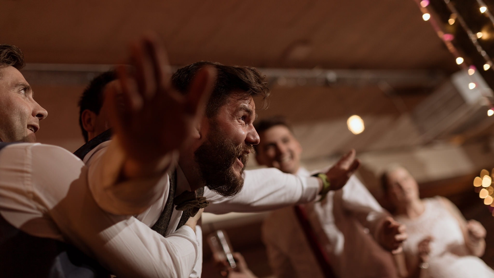 Victoria Warehouse Winter Wedding | Huw